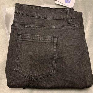 DG2 5 Pocket BLACK Ankle Jean w/ Side Leg Zippers